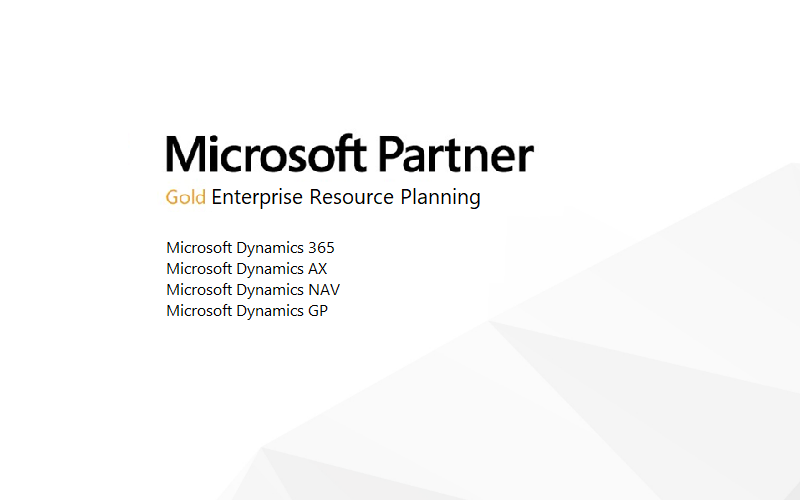 Microsoft Dynamics ERP Certified Gold Partner